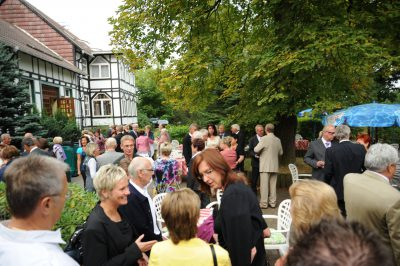 Großes Feierlichkeiten auf der Terrasse des Waldhaus Hotel & Restaurant
